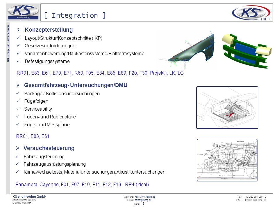 [ Integration ] Konzepterstellung Gesamtfahrzeug- Untersuchungen/DMU